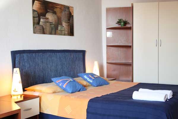 Generous double bed