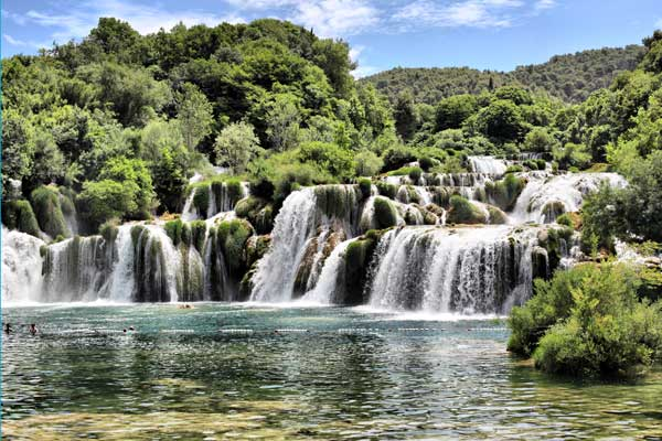The Krka Falls in Croatia
