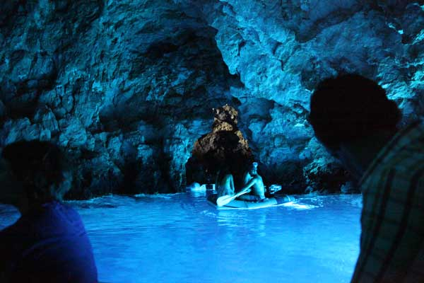 The Blue Cave in Biševo, Croatia